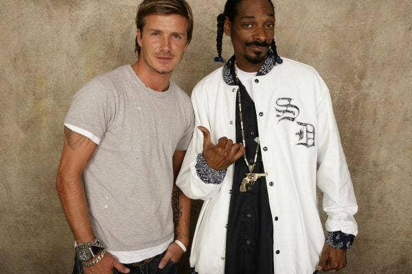 Snoop Dogg and David Beckham