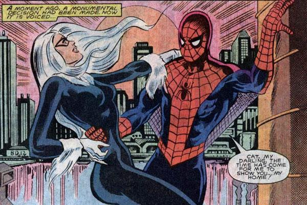 Super Dysfunctional Superhero Couples: Black Cat and Spider-Man