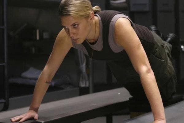 Katee Sackhoff as Starbuck in 'Battlestar Galactica'