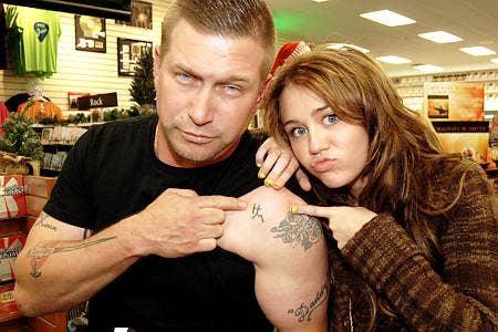 Stephen Baldwin-Hannah Montanna tattoo