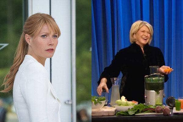 Gwyneth Paltrow and Martha Stewart