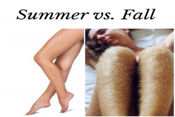 Summer Vs. Fall for legs