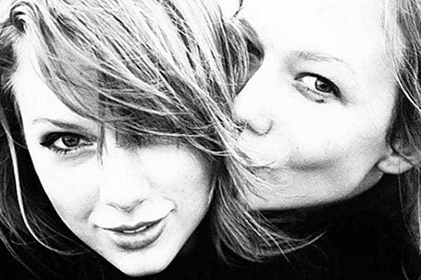 12. Taylor Swift and Karlie Kloss kissing