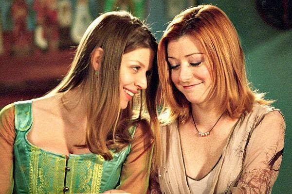 Tara Maclay and Willow Rosenberg, tara and willow, willow and tara, on Buffy the Vampire Slayer, played by Alyson Hannigan