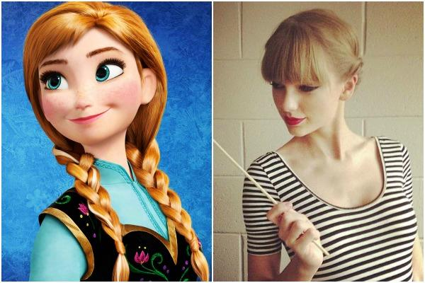Princess Anna of Disney's 'Frozen' and Taylor Swift