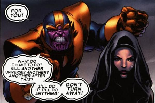 Super Dysfunctional Superhero Couples: Thanos and Mistress Death