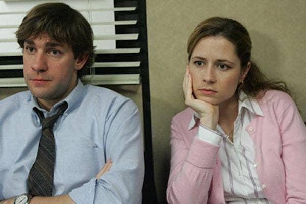 John Krasinski and Jenna Fischer from The Office