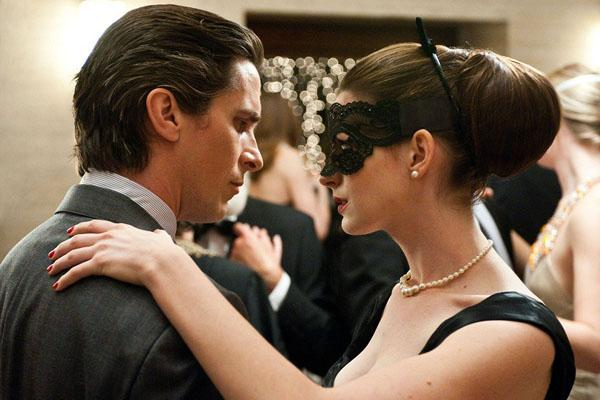 "Super Dysfunctional Superhero Couples: Christian Bale and Anne Hathaway as Bruce Wayne and Selina Kyle in ""The Dark Knight Rises"""