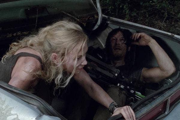 AMC The Walking Dead Melissa McBride as Carol Pelletier and Norman Reedus as Daryl Dixon