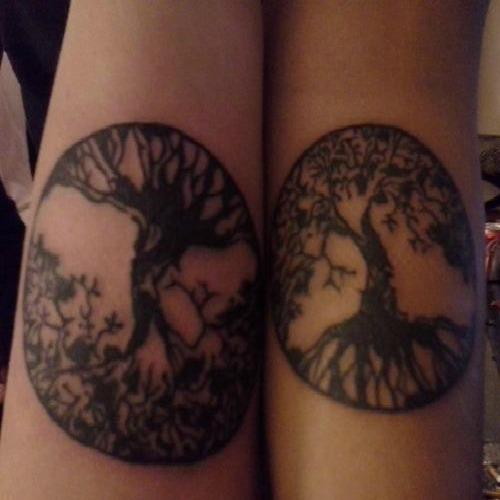 tree of life mother daughter tattoos