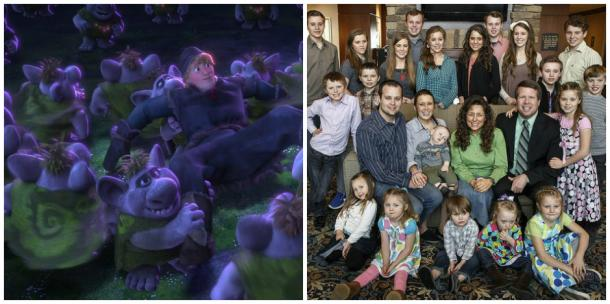 Arendelle trolls and the Duggars of '19 Kids And Counting'