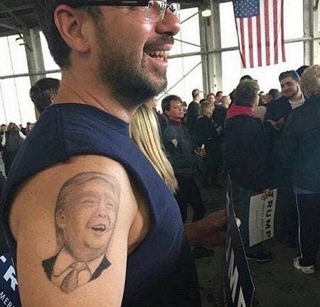 trump hillary tattoo