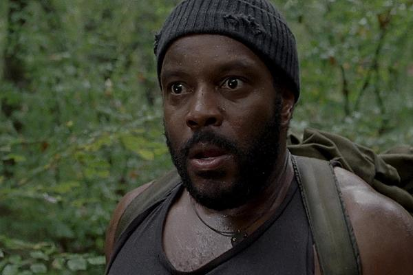 Chad L. Coleman as Tyreese on AMC 'The Walking Dead' in the forest