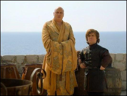 Tyrion is on the run with Varys.