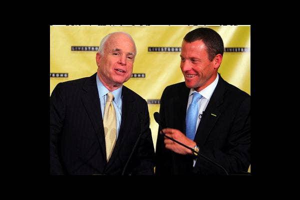 John McCain and Lance Armstrong
