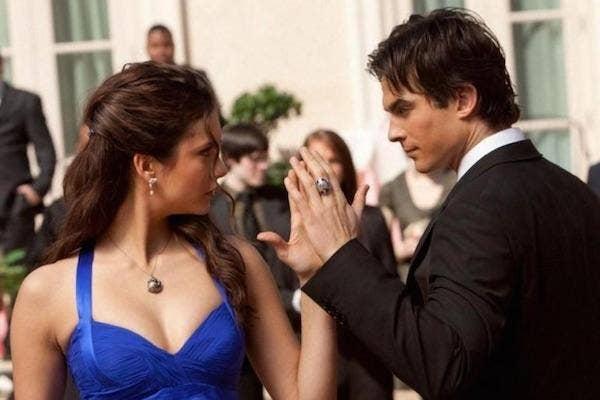 Nina Dobrev and Ian Somerhalder from The Vampire Diaries