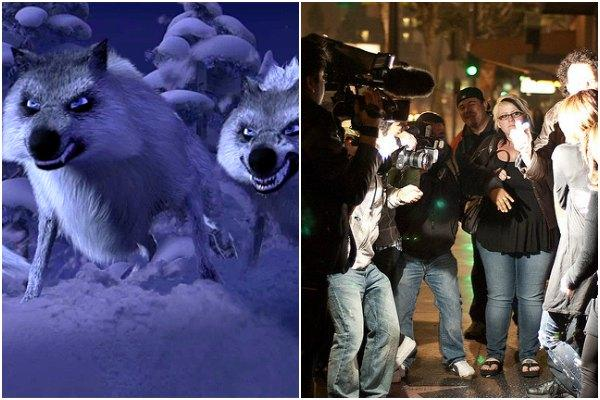 Wolves of Disney's 'Frozen' and paparazzi