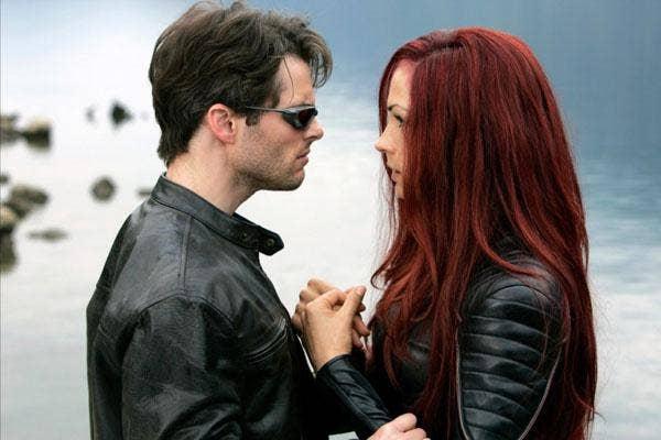 """Super Dysfunctional Superhero Couples: James Marsden and Famke Janssen as Cyclops and Jean Grey in """"X-Men"""""""