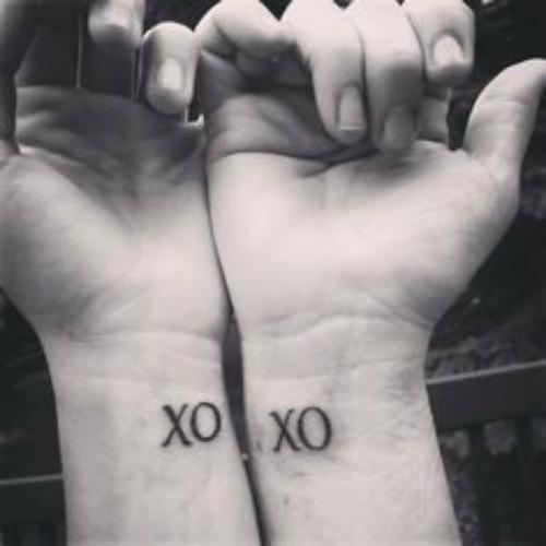 xoxo love mother daughter tattoos