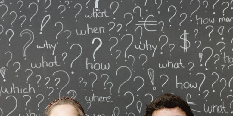 question chalkboard