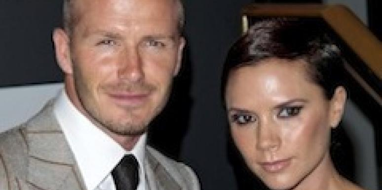 David Beckham out with wife Victoria Beckham.