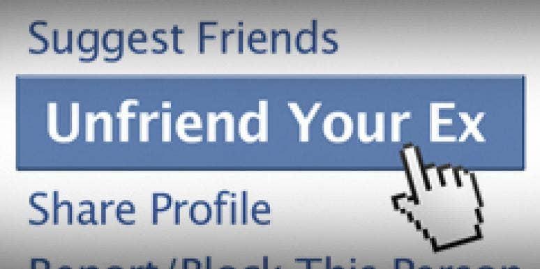 unfriend your ex button