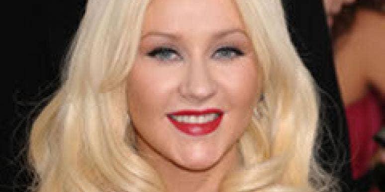 Christina Aguilera at the Golden Globes.