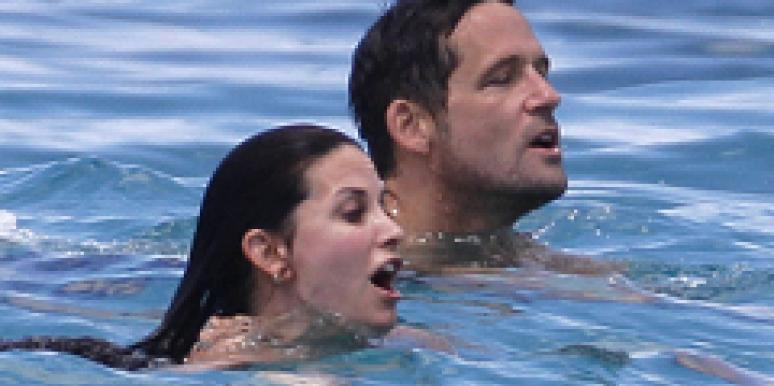 Courteney Cox and Josh Hopkins