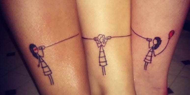 matching tattoos friend