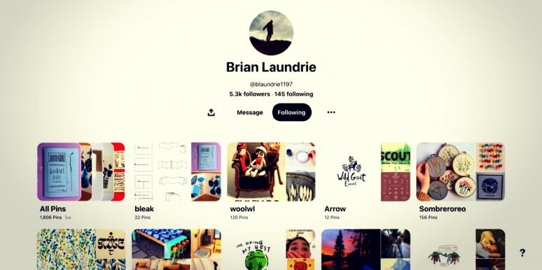 Brian Laundrie Pinterest boards
