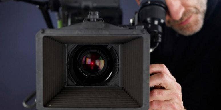 man camera