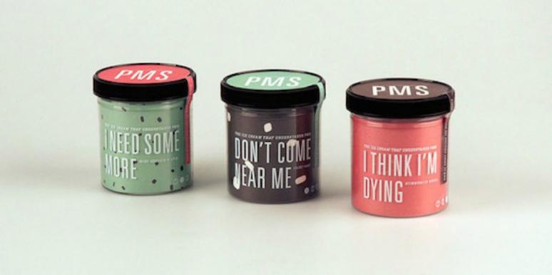 PMS ice cream labels