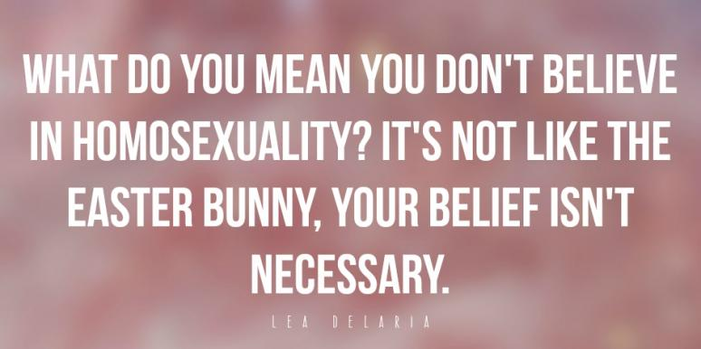 believe in homosexuality lea delaria quote