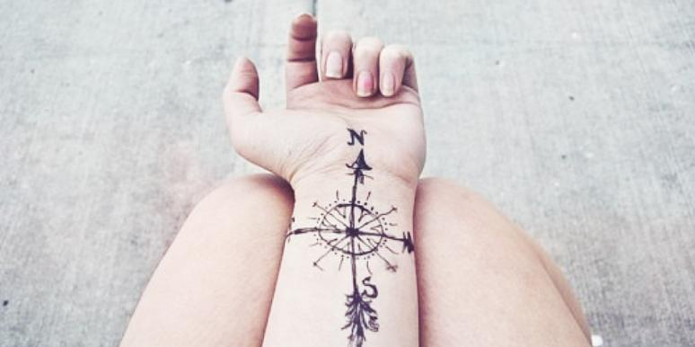 14b63546d 27 Of The Best Wrist Tattoos For People Who Love Traveling | YourTango