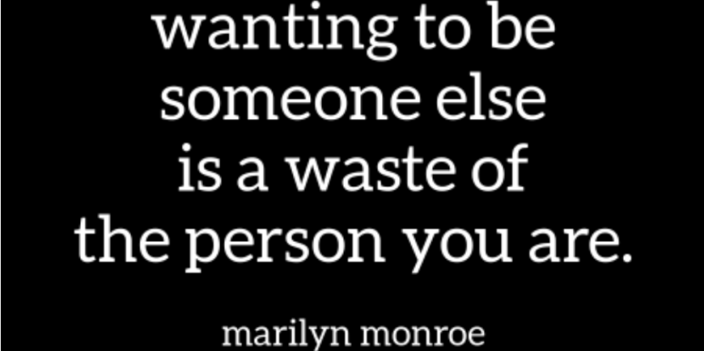 marilyn monroe self esteem quote
