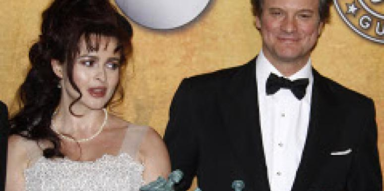 Colin Firth Helena Bonham Carter 2011 oscars nominees The King's Speech