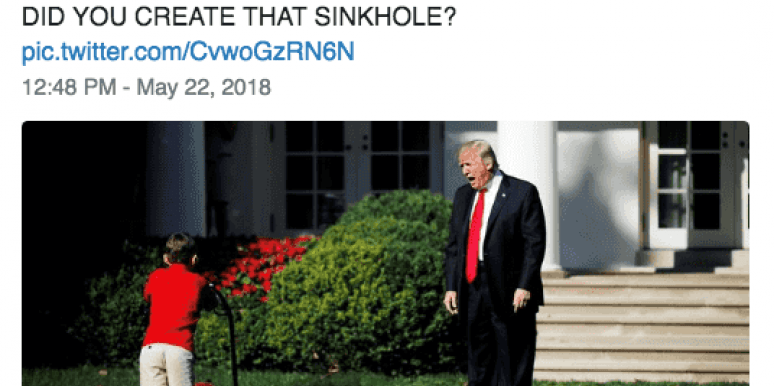 20 Of The Most Hilarious Memes And Tweets About The White House Sinkhole