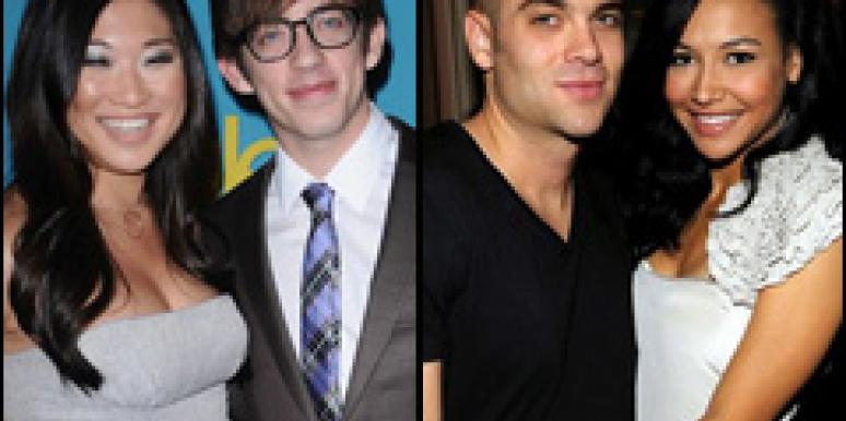 Jenna Ushkowitz and Kevin McHale, Mark Salling and Naya Rivera