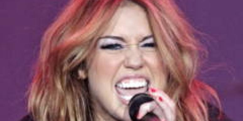Miley Cyrus Perez Hilton upskirt