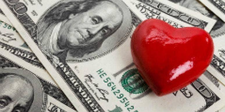 heart on 100 bill