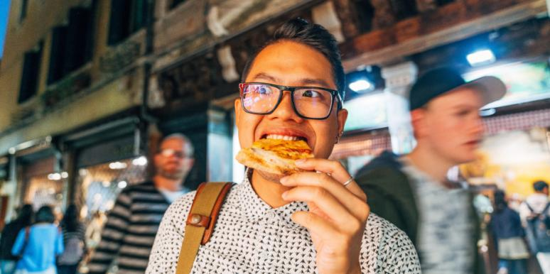 Men Eat More Pizza When Trying To Impress Women