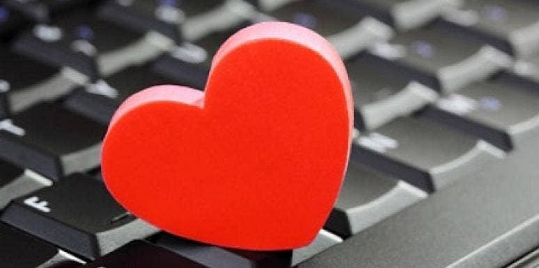 Heart on computer