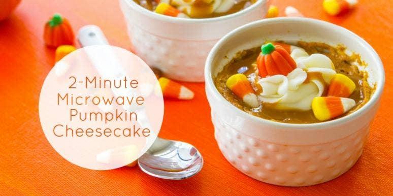Microwave Pumpkin Spice Latte Cheesecake
