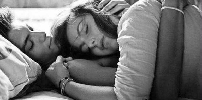 Spooning cuddle