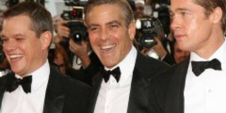 Matt Damon, George Clooney and Brad Pitt