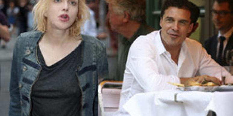 Andre Balazs and Courtney Love