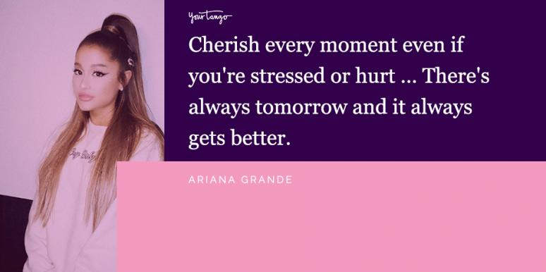 Ariana Grande quotes about anxiety mental health Instagram captions