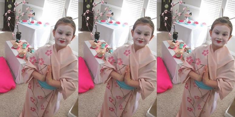 A Mom Was Called Racist For Dressing Daughter As Geisha Japanese Themed Birthday Party