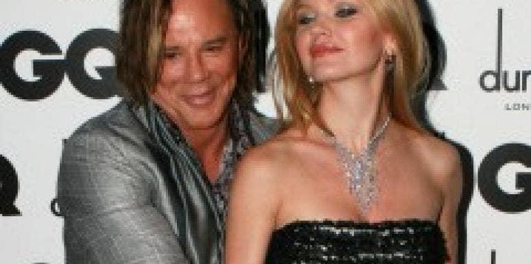 Mickey Rourke and Elena Kuletskaya