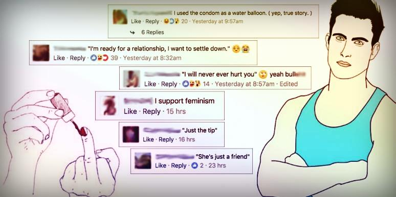 name the top lie men tell according to women on facebook